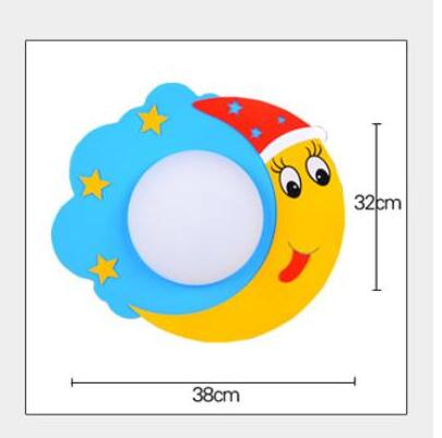 Pastoral star moon led cartoon wall lamp creative aisle children s bedroom lamp bedroom bedside bed lighting TA9213