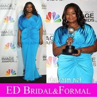 Octavia Spencer Blue Evening Dresses 2012 NAACP Image Awards Red Carpet