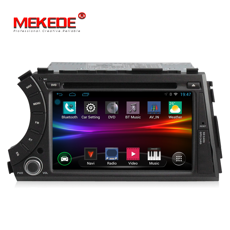 Android 4.4 quad core 2din dvd de voiture cassette radio stéréo lecteur pour ssangyong kyron actyon avec BT WIFI RDS FM 3g livraison gratuite