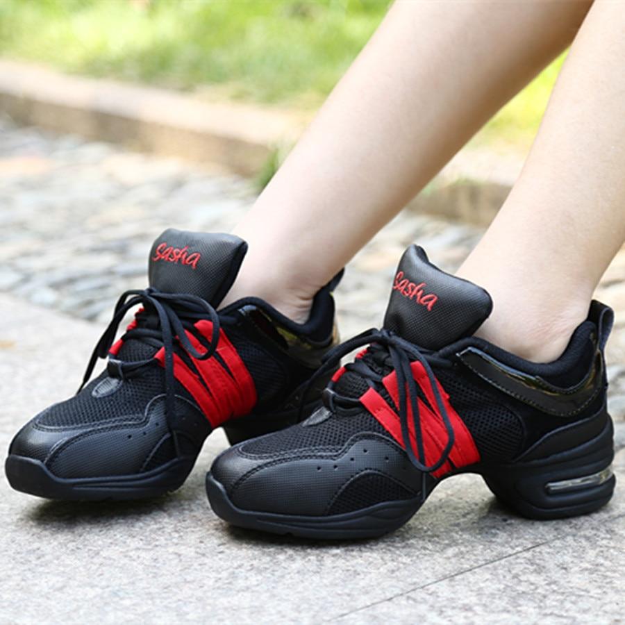 Noir Rouge Air Coussin Mesh Sneakers de Danse Jazz Chaussures De Danse DS14-203 Zapatos De Baile Latino Mujer Livraison GratuiteNoir Rouge Air Coussin Mesh Sneakers de Danse Jazz Chaussures De Danse DS14-203 Zapatos De Baile Latino Mujer Livraison Gratuite