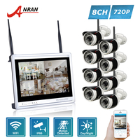 ANRAN P2P 8CH WIFI NVR 12 Inch LCD Monitor 36 IR Outdoor Network 720P IP Wireless