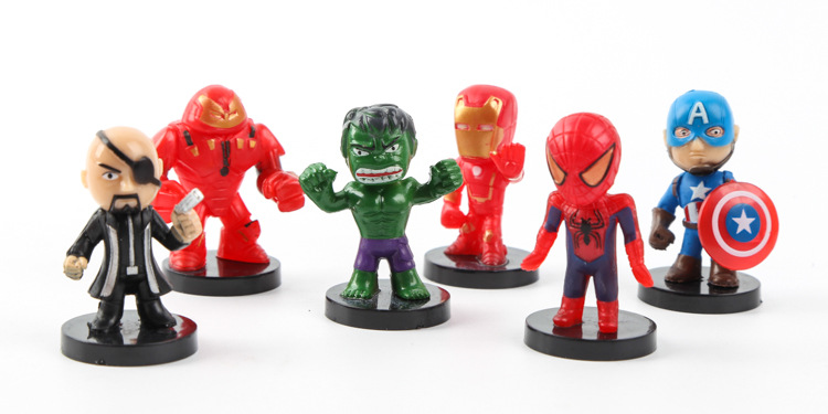 2019 Marvel Figure Set Spiderman Batman Hulk Iron Man