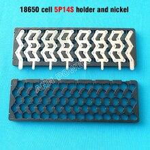 5*14 (5 p 14 s) w 타입 홀더 및 니켈 14 s 51.8 v 리튬 배터리 팩 5p14s 70 홀 18650 배터리 홀더 및 니켈 도금