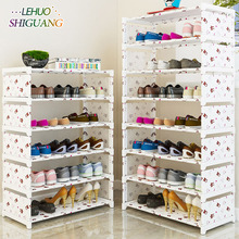 أرفف أحذية متعددة الطبقات قماش غير منسوج سهل التجميع أرفف تخزين خزانة أحذية أرفف كتب عصرية لأثاث غرفة المعيشة