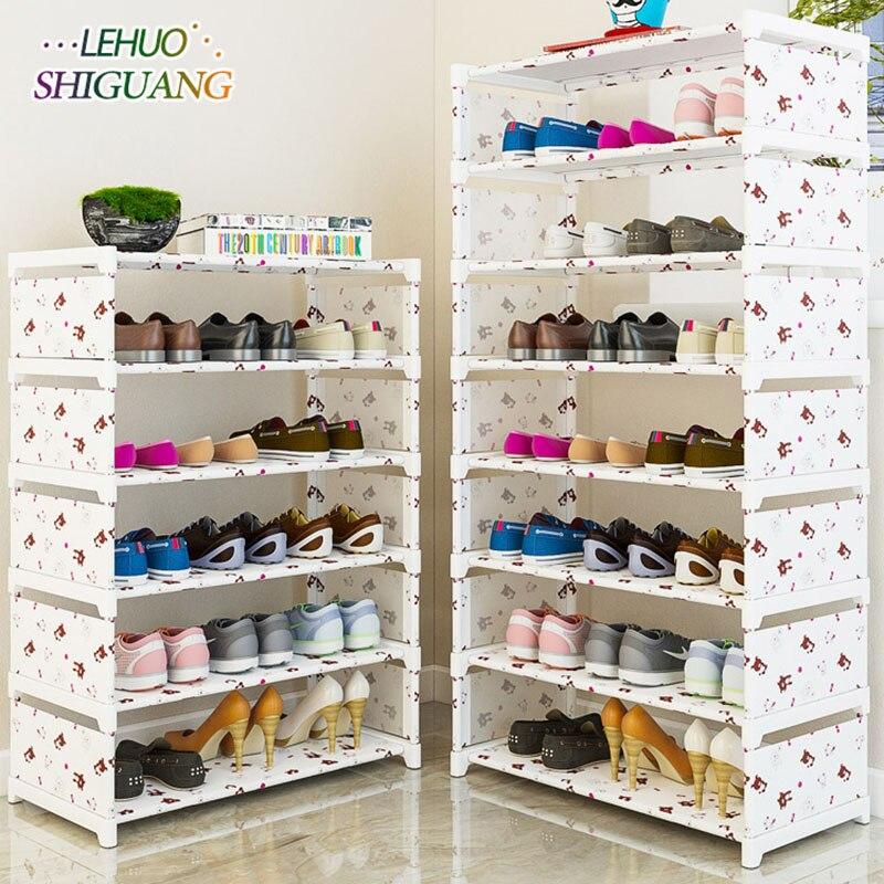 Many Layers Shoe Rack Non-woven Fabric Easy Assemble Organize Storage Shelf Shoe Cabinet Fashion Bookshelf Living Room Furniture