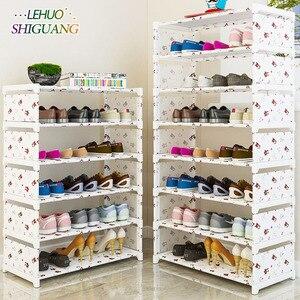 Image 1 - Many Layers Shoe Rack Non woven fabric Easy Assemble organize Storage Shelf Shoe cabinet fashion bookshelf Living Room Furniture