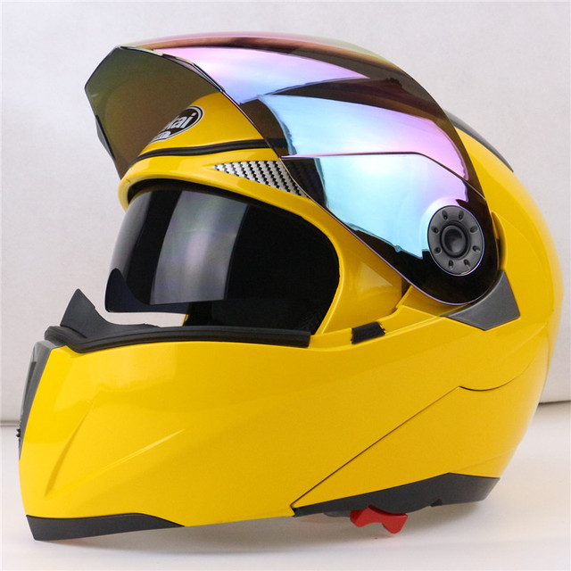 Professional Double Glass Motorcycle Helmet Jiekai Flip Up motorbike Helmet 22 option available with internal black sunglass