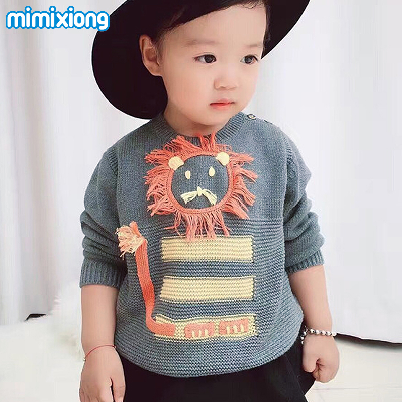 Spring Knitted Newborn Boys Girls Sweaters Jumper Unisex Baby Clothing Cute Cartoon Style Infant Child Knitwear Pullovers 0-24M