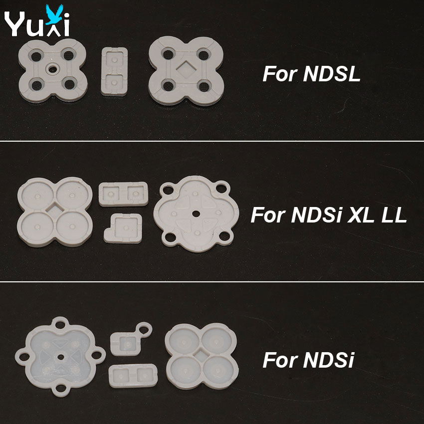 1 Set Conductive Button Rubber Silicone D Pad Keypad For Nintendo DS Lite DSL For NDSL NDSi XL LL Replacement Parts