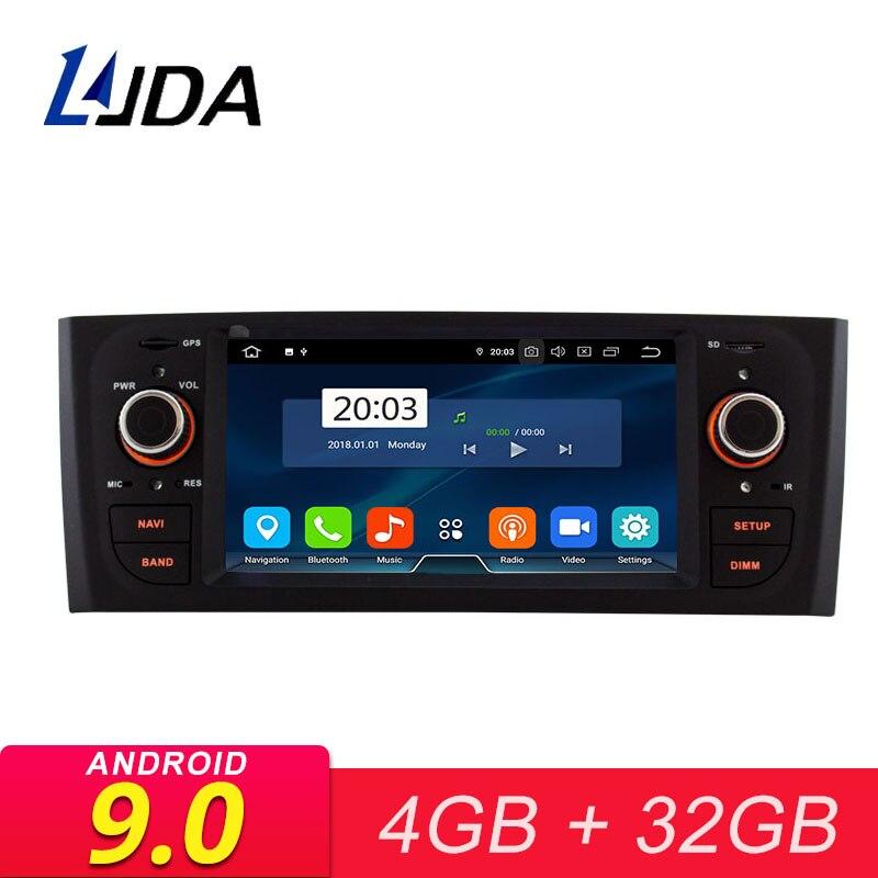 Lecteur multimédia de voiture LJDA Android 9.0 pour Fiat Abarth Punto EVO Linea 2012-2015 Radio GPS stéréo Octa cœurs Headunit Autoaudio