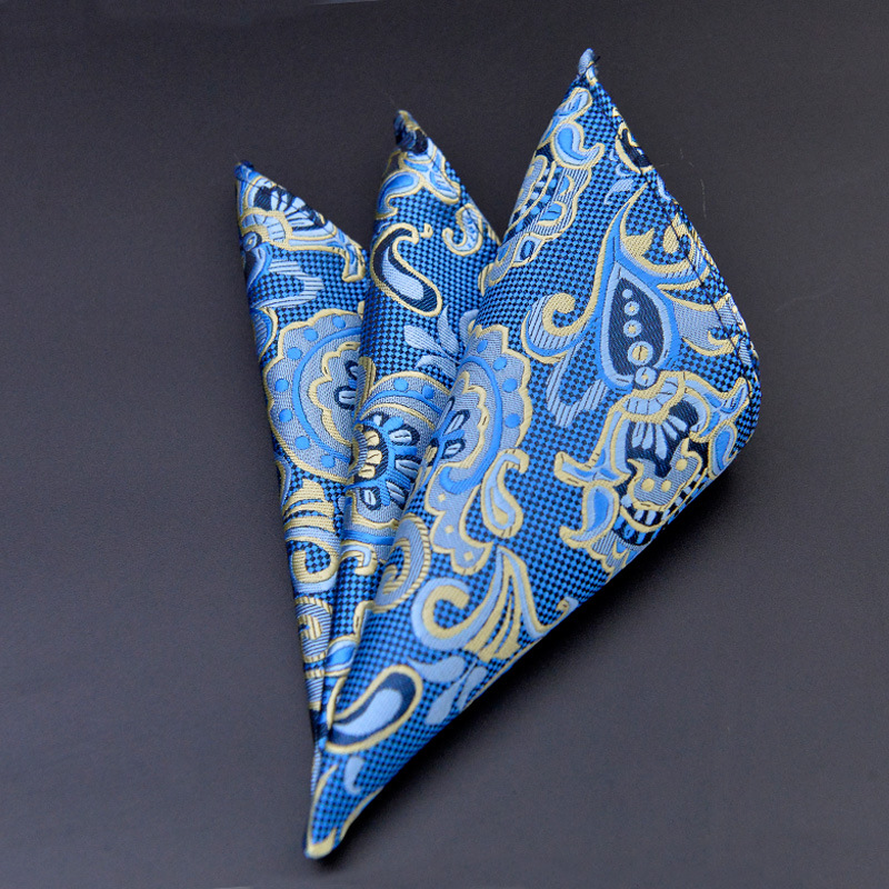 Casual Business Men's Suit Paisley Chest Towel Pocket Square For Party Polyester Yarn Floral Pattern Handkerchief
