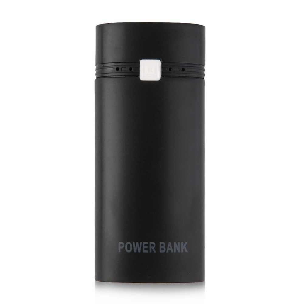 5600mAh Kit de caja de Banco de energía 2x18650 batería portátil caja de Banco de energía con salida USB e indicador para iPhone sin batería