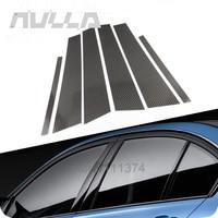 B pillars Carbon Fiber Sticker For BMW E90 Car Styling Window Decorative 3D Trim Accessories
