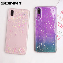 Clear Soft TPU Case For Huawei P30Lite Nova 6se P20 silicone transparent Glitter Star back cover for Huawei P40 P30 P20 Pro Case(China)