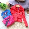 2013 nuevo estilo de Los Niños femeninos de primavera y otoño V-cuello de la chaqueta, chicas casual top moda abrigo, bebé prendas de vestir exteriores