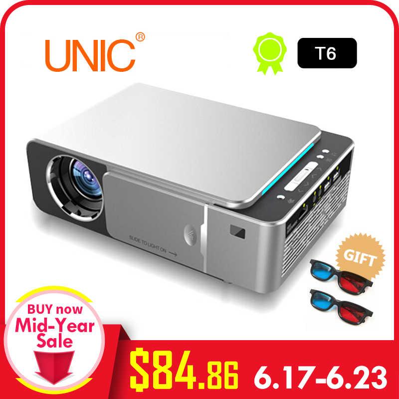 T6 светодиодный проектор HD 3500 люмен портативный HDMI USB поддержка 4 K 1080 p домашний кинотеатр проектор фильмов Beamer