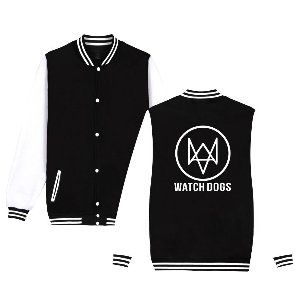 Action-Adventure Video Game Watch Dogs 2 Jacket Men Women Cotton Fashion Casual Clothing Baseball Uniform WATCH_DOGS 2 Jacket