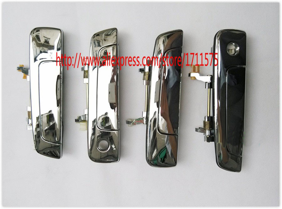 A Set/4PCS Hot Outerside Door Handle Iron Silvery COLOER Genuine For Mitsubishi Pajero IO Cheetah H77 /CFA6400
