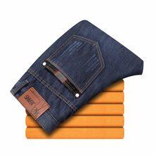 d5b99ca484736 2018 CHOLYL Толстые мужские зимние Стрейчевые джинсы теплые флисовые мужские  классические джинсы качество мужские синие джинсовы.