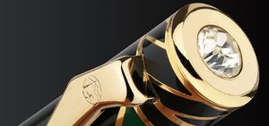 Image 5 - Pimio עט 10k זהב ציפורן גבוהה end עסק אריזת מתנה אמנות ps 80 בורג כובע אופנה מזדמן מזרקה עטים