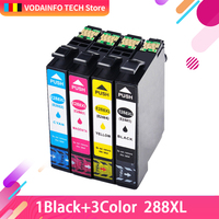 QSYRAINBOW  4 Pack Compatible ink cartridge 288 T288XL for Epson Expression XP 330 XP 430 XP 434 Series Printers|Ink Cartridges| |  -
