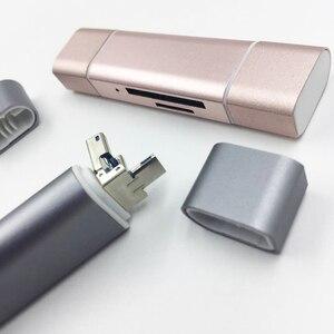 Image 5 - Baolyda czytnik kart SD 3 w 1 USB typu C/Micro USB męski Adapter i funkcją OTG przenośny czytnik kart pamięci do i komputera i laptopa