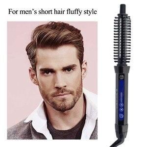 Image 4 - קרמיקה שיער מברשת Curler חשמלי שיער מברשת מסרק שיער מסתלסל רולר שיער קרלינג ברזל