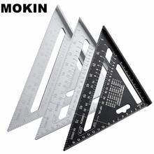 7 »Алюминий сплав Треугольники правитель Угол транспортир, Скорость квадратный линейка для построения обрамление Деревообрабатывающие инструменты