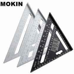 7'' Aluminum Alloy Triangle Ruler Angle Protractor Miter Speed Square Measuring Ruler For Building Framing Woodworking Tools