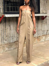 Hot Jumpsuits Women Clubwear Off Shoulder Playsuit Sexy cotton Rompers Jumpsuit Long playsuit causal bodysuits with pocket