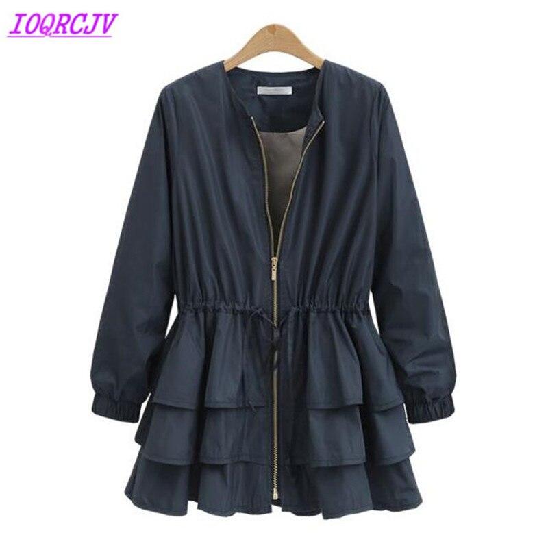 Spring women's   trench   coat 2018 Europe heat sell Plus size Windbreaker female   trench   Slim thin coat Casual top coat IOQRCJV H280