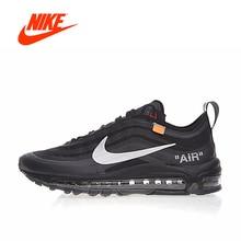 Оригинальный Новое поступление Аутентичные OFF White x Nike Air Max 97 для мужчин удобные кроссовки Спорт на открытом воздухе кроссовки AJ4585-001