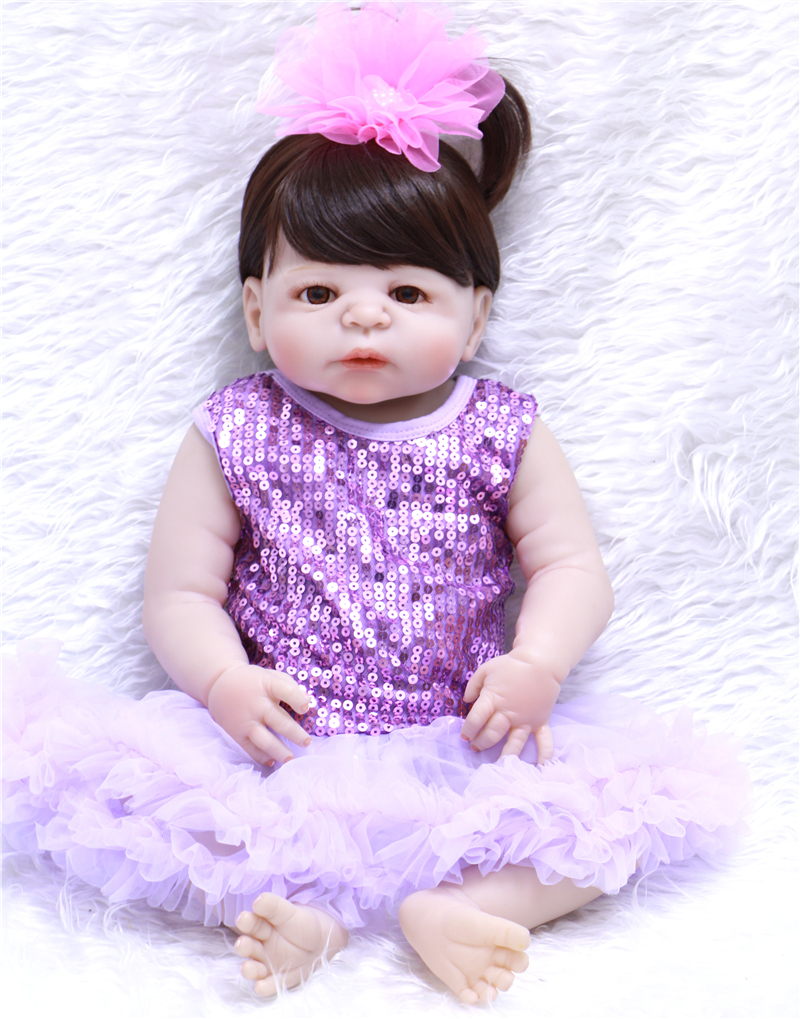 23 Lifelike Reborn Baby Dolls White Skin Babies Doll Full Vinyl Body So Truly Girl Model Doll For Toddler bebe Toy Gifts