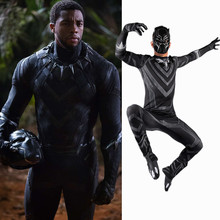 2019 New Panther Costume Cosplay Man Adult Halloween Deluxe Set Avengers US Captain Civil War