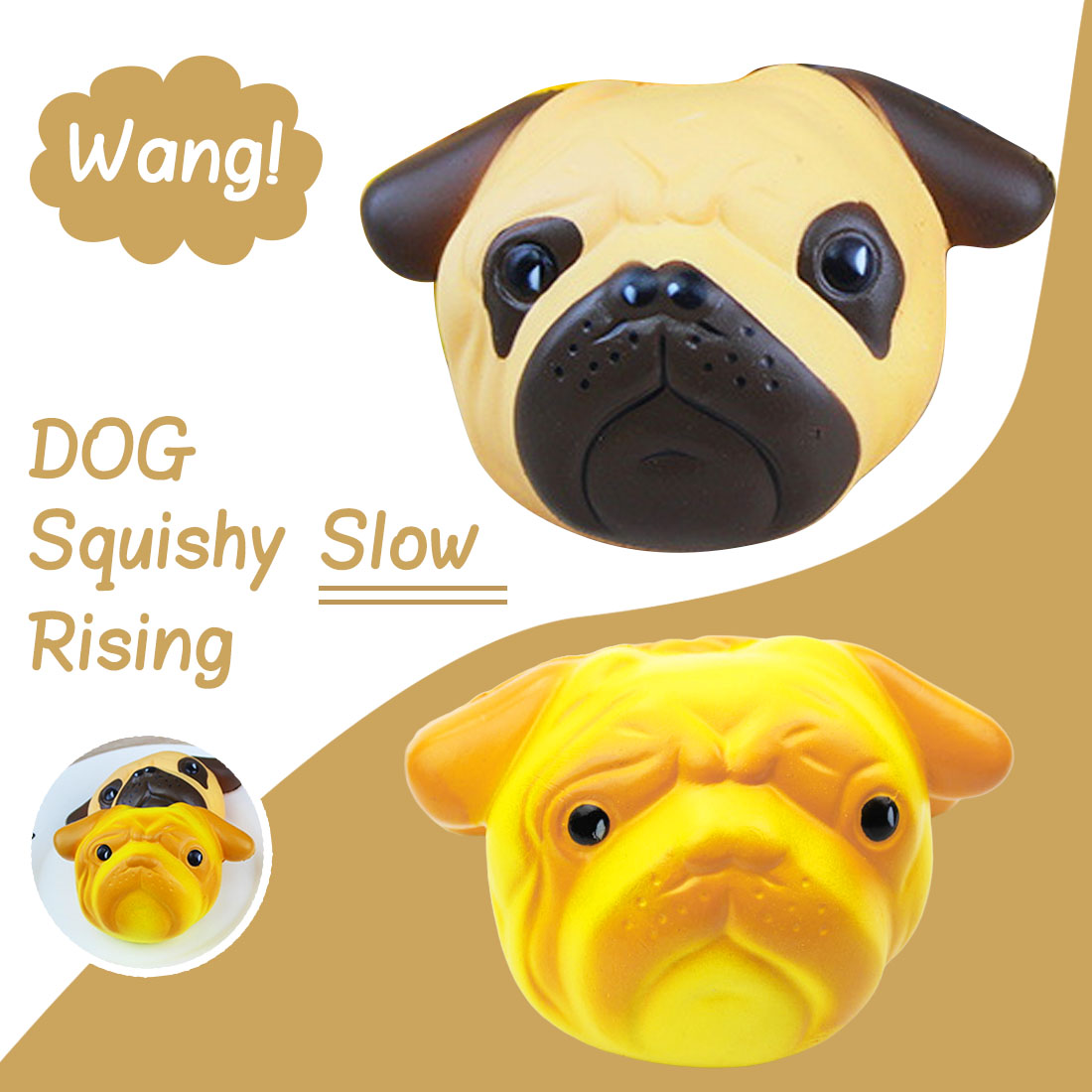 Mobile Phone Straps Etmakit Slow Rising Squishy Dog Face Bread 11cm Jumbo Pendant Kawaii Phone Straps Stretchy Squeeze Cream Scented Cake Toy Cellphones & Telecommunications