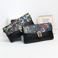 2018 Antique Elegant Genuine Leather Full Grain Leather Lady Day Clutches Long Shape Purse