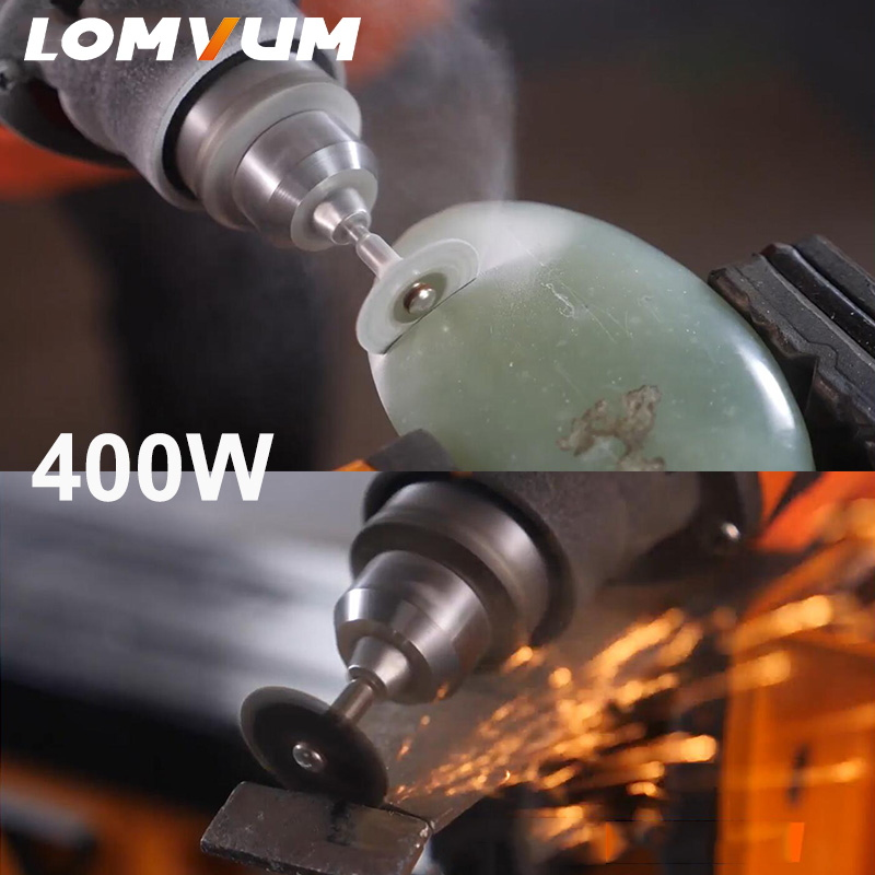 Image 4 - LOMVUM Electric Grinder Dremel Style Mini Drill Rotary Tools Set 350W DIY Grinder 400W 6 Speed Abrasive Tool Engraver Kit ShaftGrinders   -