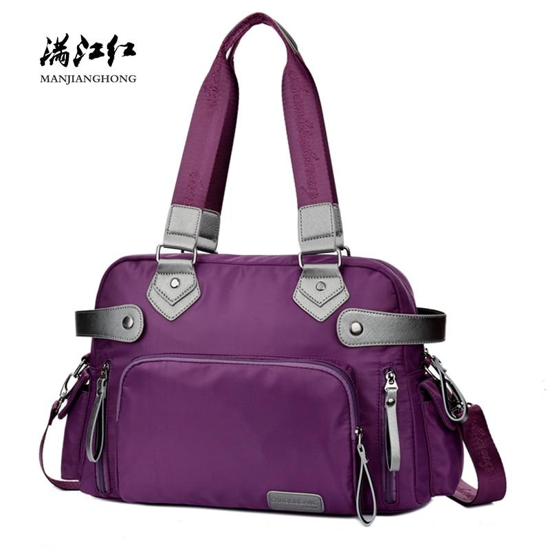 Fashion Waterproof Nylon Men Travel Bags Large Casual Shoulder Travel Bag Women Weekend  ...