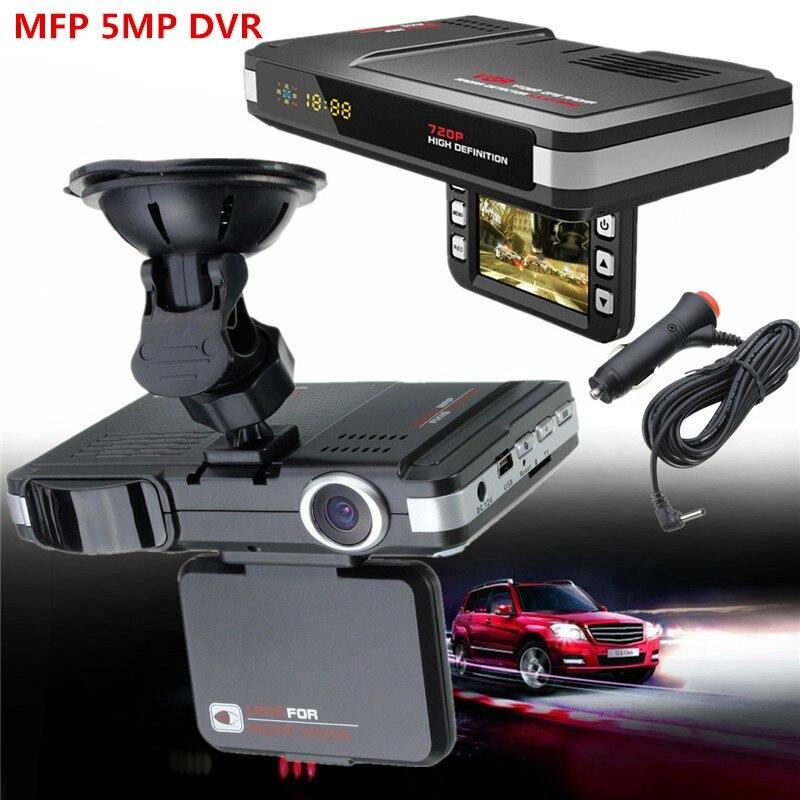 New MFP 5MP Car DVR Camera Recorder Radar Laser speed Detector Trafic Alert English Russian