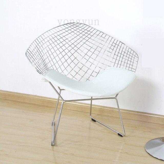 Online Shop Diamond Chair Leisure Chair Steel Wire Chair cushion ...