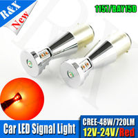 1Pair Newest 48W 1157 P21 5W BAY15D 21 5W 9smd XB D LED Auto Brake Lights
