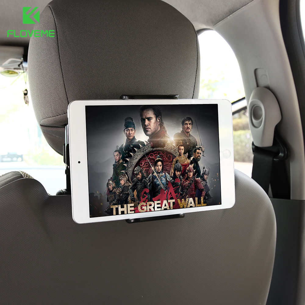 FLOVEME 4-11 Car Back Seat Phone Tablet PC Holder For iPhone Samsung iPad 360 Degree Rotation Car Mount Headrest Bracket Stand