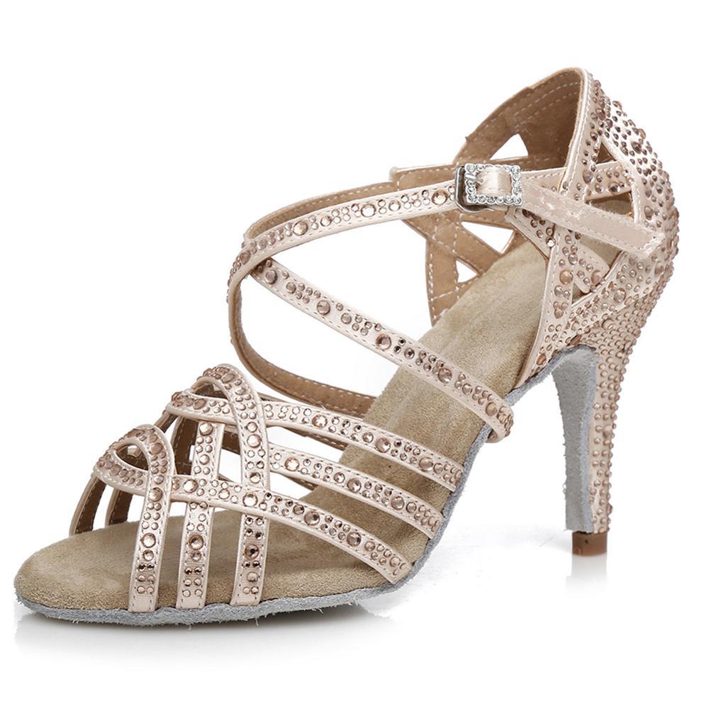 Chaussures de danse latine de salon strass Tango Salsa nouveaux arrivants en gros femmes/filles/dames talons minces danse professionnelle - 5
