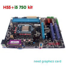 NEW DDR3 LGA1156 h55 Motherboard kit with i5 750 cpu