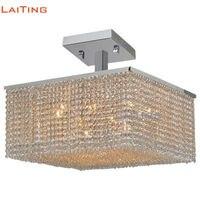 Laiting D20 Art Deco Square Kristal современные лампы освещения светодиодный светильник потолочный Роскошные потолочные светильники для гостиной LT 51120