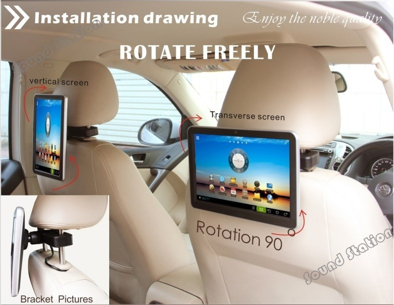 2 pcs x 10 1 inch pure android car pc headrest tft lcd. Black Bedroom Furniture Sets. Home Design Ideas
