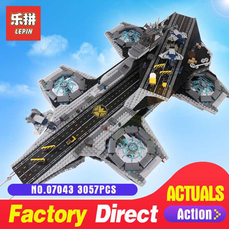 LEPIN 07043 3057Pcs Super Heroes The SHIELD Helicarrier Model Building Blocks Bricks Toys Compatible 76042 for Children lepin 07043 3057pcs super heroes the shield helicarrier model building blocks bricks toys kits for children compatible 76042