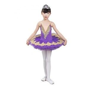 Image 4 - 2020 new Professional Ballet Tutu Child Swan Lake Costume White Red Blue Ballet Dress for Children Pancake Tutu Girls Dancewear