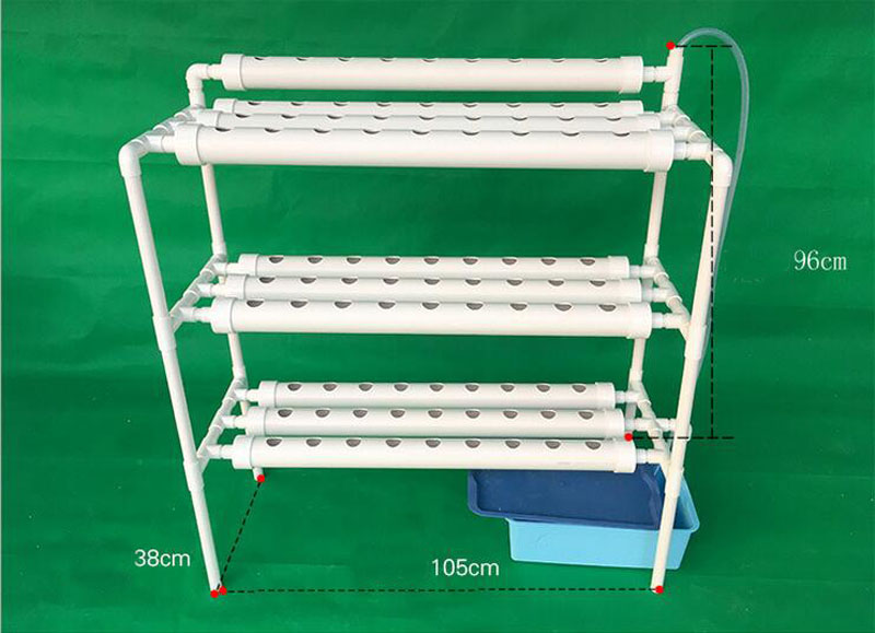 NFT Hydroponics System with 90pcs of Net Cup Home Hydroponics System Nutrient Film Technique (NFT)Express Free Shipping ZA3794 image