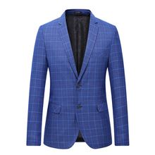 2018 spring single breasted coat fashion classic jacket blazers men suits size blazer men's business casual grid suits men